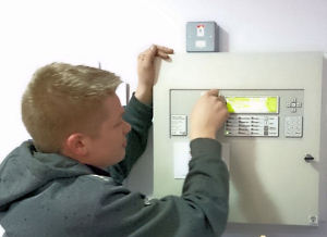 Servicing a Fire Alarm Panel